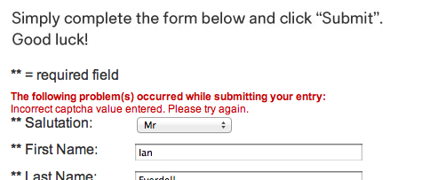 H&M doesn't provide very helpful error messages.